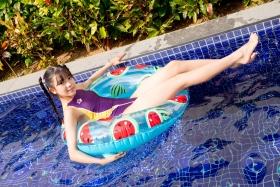 Mao Imaizumi Swimming Race Swimsuit Image Purple arena arena Vol1040