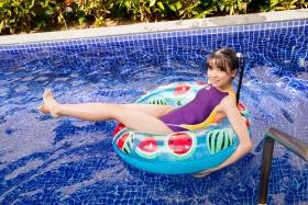 Mao Imaizumi Swimming Race Swimsuit Image Purple arena arena Vol1038