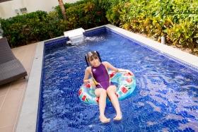 Mao Imaizumi Swimming Race Swimsuit Image Purple arena arena Vol1036