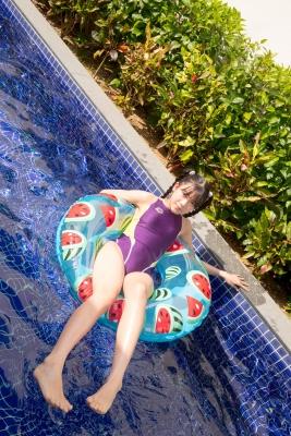 Mao Imaizumi Swimming Race Swimsuit Image Purple arena arena Vol1039