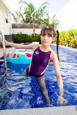 Mao Imaizumi Swimming Race Swimsuit Image Purple arena arena Vol1047