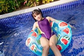 Mao Imaizumi Swimming Race Swimsuit Image Purple arena arena Vol1045
