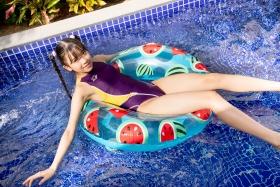 Mao Imaizumi Swimming Race Swimsuit Image Purple arena arena Vol1044