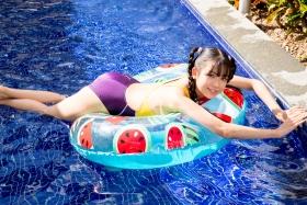 Mao Imaizumi Swimming Race Swimsuit Image Purple arena arena Vol1052