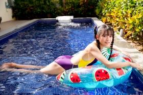 Mao Imaizumi Swimming Race Swimsuit Image Purple arena arena Vol1057