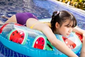 Mao Imaizumi Swimming Race Swimsuit Image Purple arena arena Vol2004