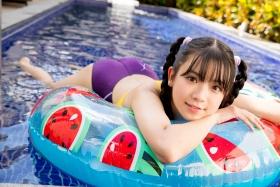 Mao Imaizumi Swimming Race Swimsuit Image Purple arena arena Vol2005