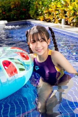Mao Imaizumi Swimming Race Swimsuit Image Purple arena arena Vol2010