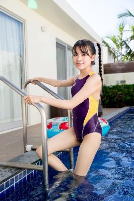 Mao Imaizumi Swimming Race Swimsuit Image Purple arena arena Vol2024