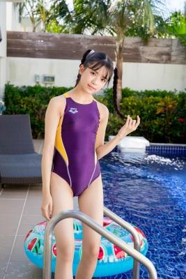 Mao Imaizumi Swimming Race Swimsuit Image Purple arena arena Vol2035
