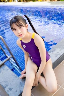 Mao Imaizumi Swimming Race Swimsuit Image Purple arena arena Vol2051