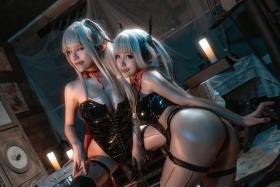 Cosplay Swimsuit Gravure Vampire Twins002
