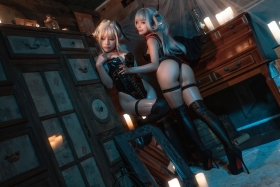 Cosplay Swimsuit Gravure Vampire Twins006