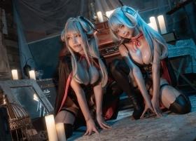 Cosplay Swimsuit Gravure Vampire Twins007
