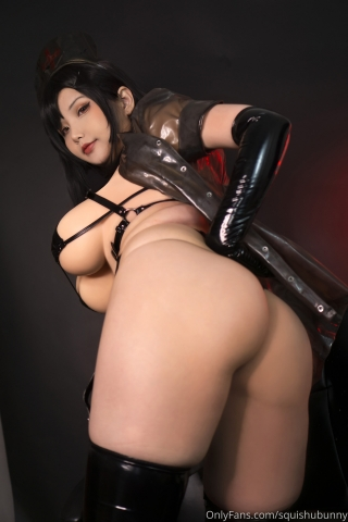 Black swimsuit Black bikini Ultrasmall bikini Dark nurse Tifa cosplay005