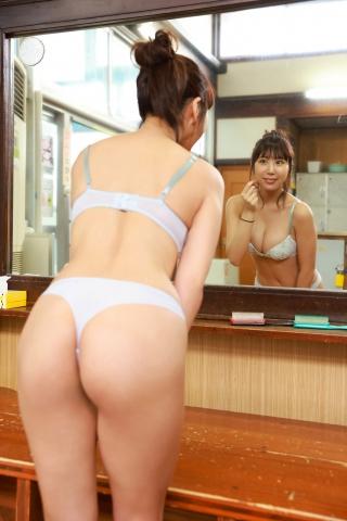 Aoi Hinata in a bathing suit bikini at a public bath004