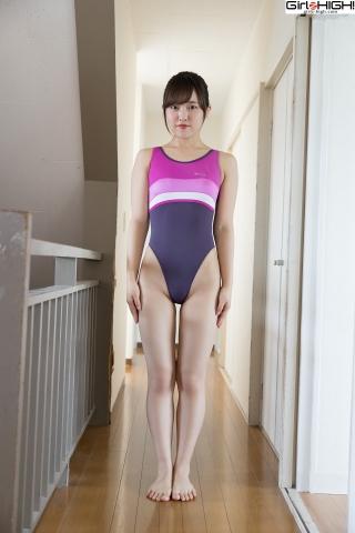 Anju Kouzuki FILA swimming suit001