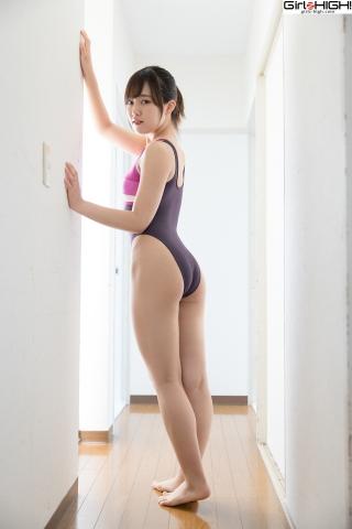 Anju Kouzuki FILA swimming suit011