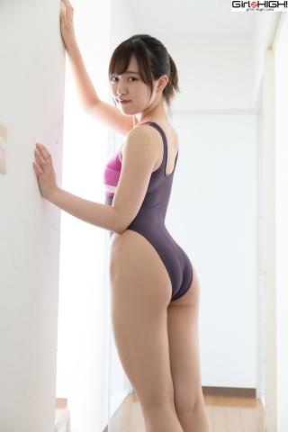 Anju Kouzuki FILA swimming suit012