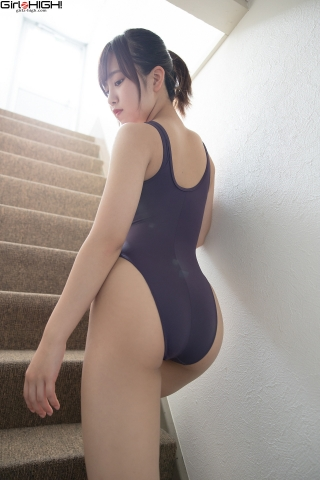 Anju Kouzuki FILA swimming suit020
