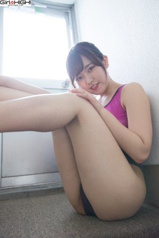 Anju Kouzuki FILA swimming suit029