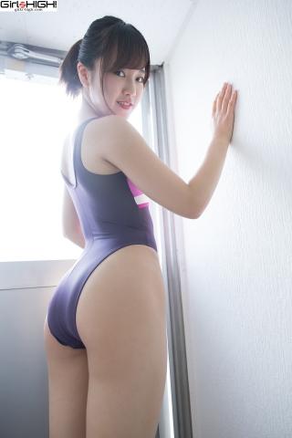 Anju Kouzuki FILA swimming suit031