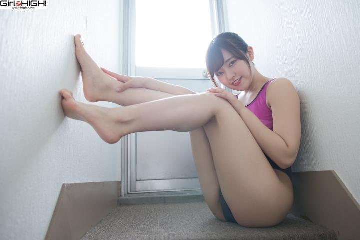 Anju Kouzuki FILA swimming suit028