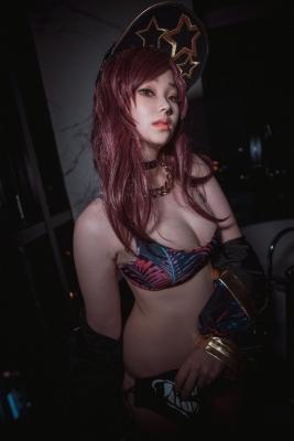 KDA AKALI League of Legends Cosplay Swimsuit Gravure035