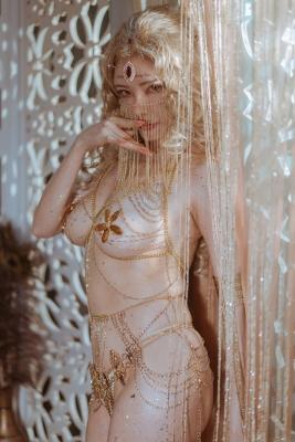 Blonde dancer cosplay swimsuit gravure005