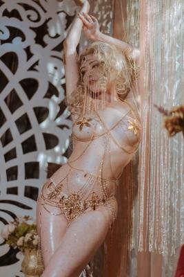 Blonde dancer cosplay swimsuit gravure007