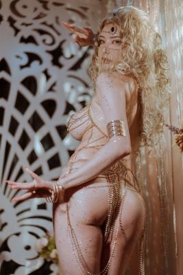 Blonde dancer cosplay swimsuit gravure009