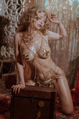 Blonde dancer cosplay swimsuit gravure012