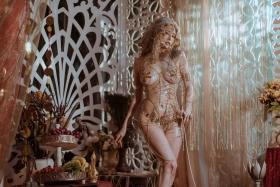 Blonde dancer cosplay swimsuit gravure022