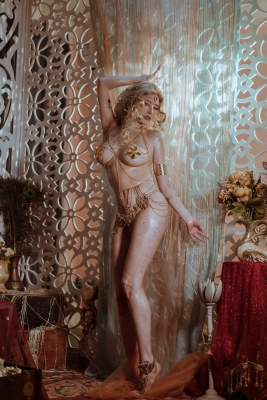 Blonde dancer cosplay swimsuit gravure024