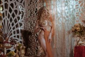 Blonde dancer cosplay swimsuit gravure031