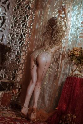 Blonde dancer cosplay swimsuit gravure032