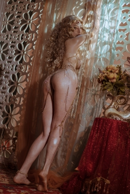 Blonde dancer cosplay swimsuit gravure033