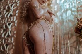 Blonde dancer cosplay swimsuit gravure035