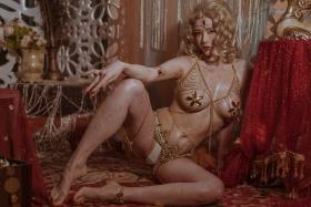 Blonde dancer cosplay swimsuit gravure038