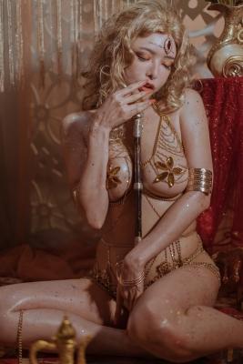 Blonde dancer cosplay swimsuit gravure042