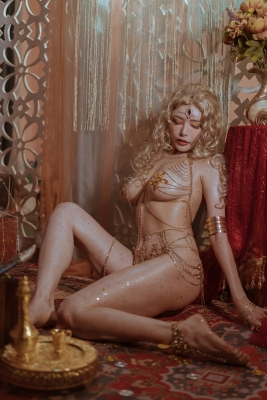 Blonde dancer cosplay swimsuit gravure045