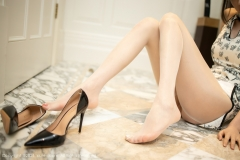 Beautiful Woman in China Dress White Lingerie Underwear Small Evening juju036