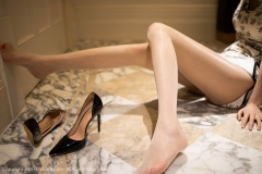Beautiful Woman in China Dress White Lingerie Underwear Small Evening juju037