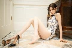 Beautiful Woman in China Dress White Lingerie Underwear Small Evening juju034