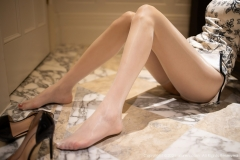 Beautiful Woman in China Dress White Lingerie Underwear Small Evening juju038