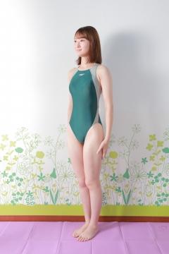 Asami Kondo Swimsuit Speedo Green002
