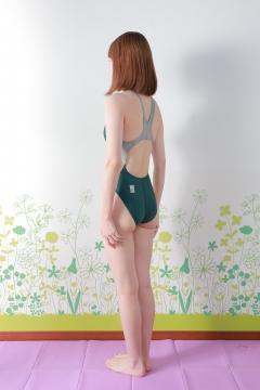 Asami Kondo Swimsuit Speedo Green004
