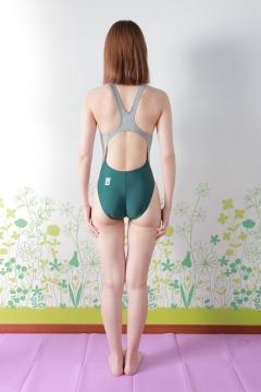 Asami Kondo Swimsuit Speedo Green005