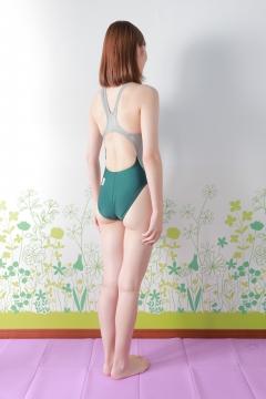 Asami Kondo Swimsuit Speedo Green006