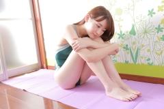 Asami Kondo Swimsuit Speedo Green015